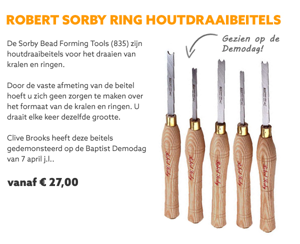 Sorby houtdraaibeitels ring