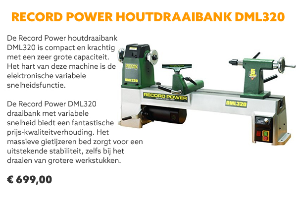 Record Power DML320 houtdraaibank