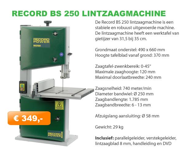 Record BS250 lintzaagmachine