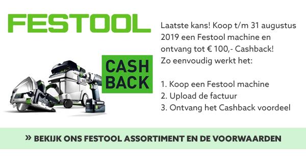 Festool Cashback actie