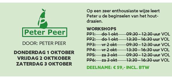 Houtdraaien Peter Peer