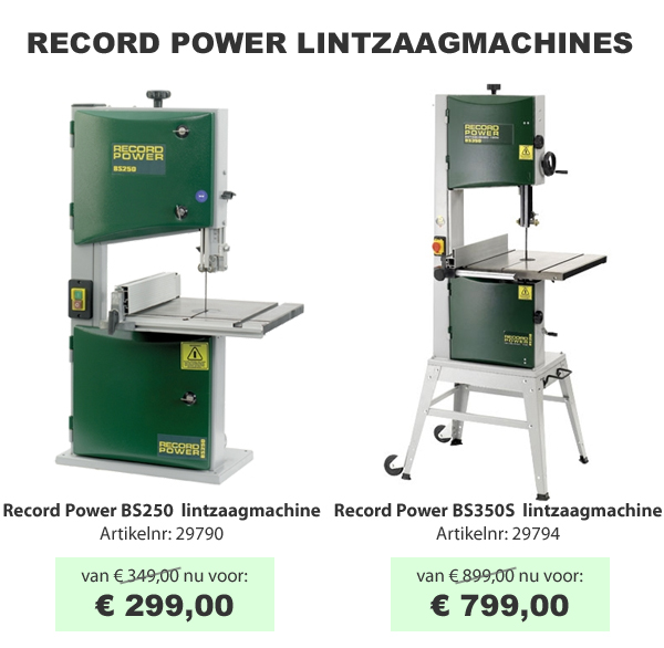 Record Power lintzaagmachines
