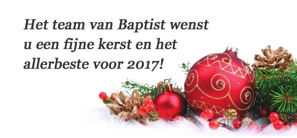 Baptist wenst u een fijne kerst en een goed nieuwjaar!