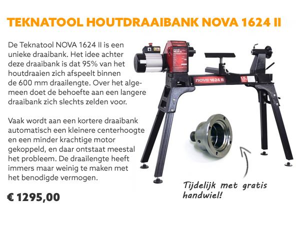 Teknatool Nova 1624 houtdraaibank