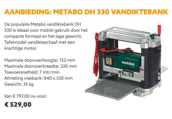 Metabo DH 330 vandiktebank