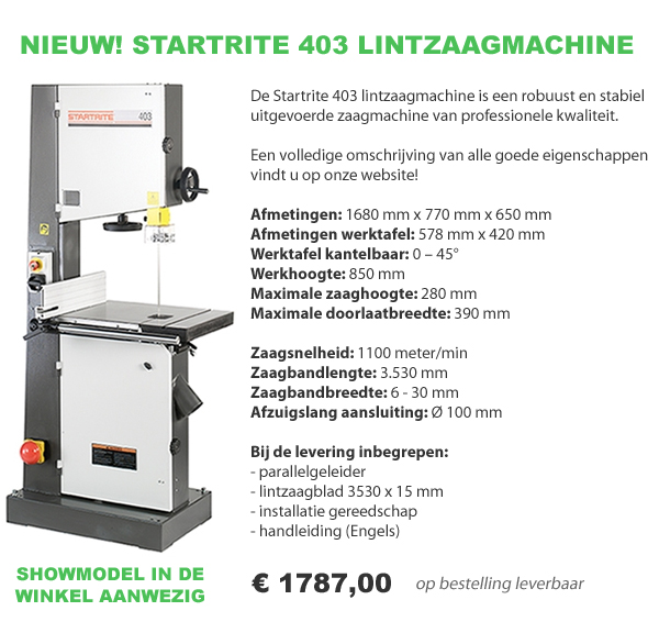Startrite 403 lintzaagmachine