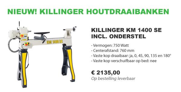 Killinger KM 1400 SE houtdraaibank