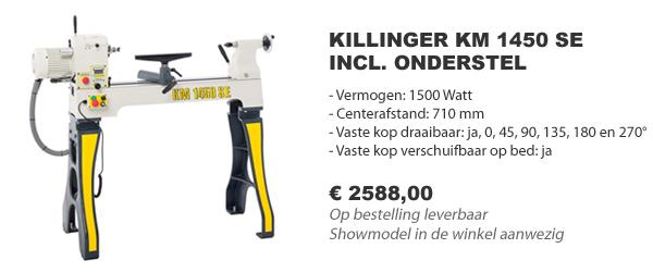 Killinger KM 1450 SE houtdraaibank