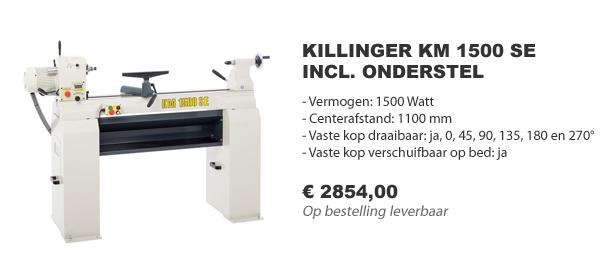 Killinger KM 1500 SE houtdraaibank