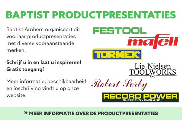 Baptist productpresentaties