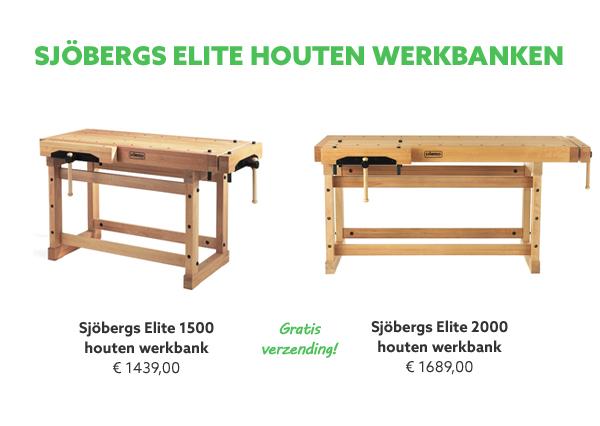 Sjobergs houten werkbanken
