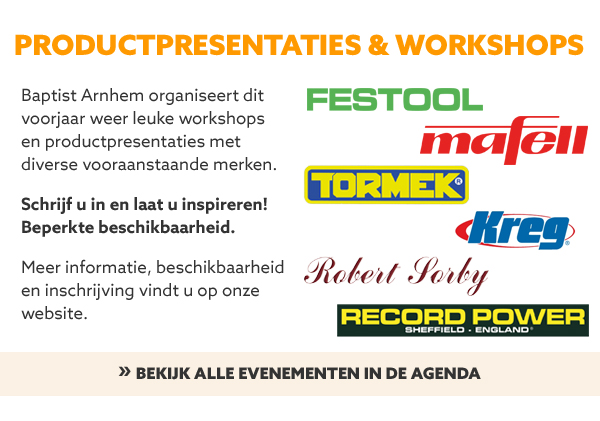 Productpresentaties en workshops