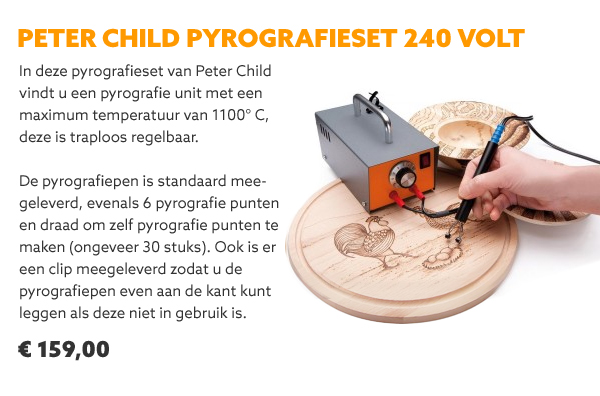 Peter Child pyrografieset