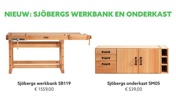 Sjobergs werkbank en onderkast