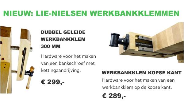 Lie-Nielsen werkbankklemmen