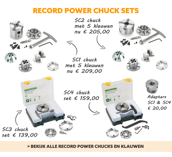 Record Power chuck sets