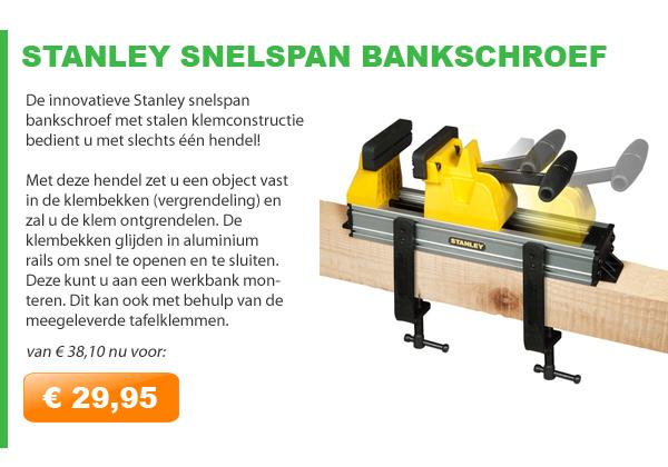 Stanley snelspan bankschroef