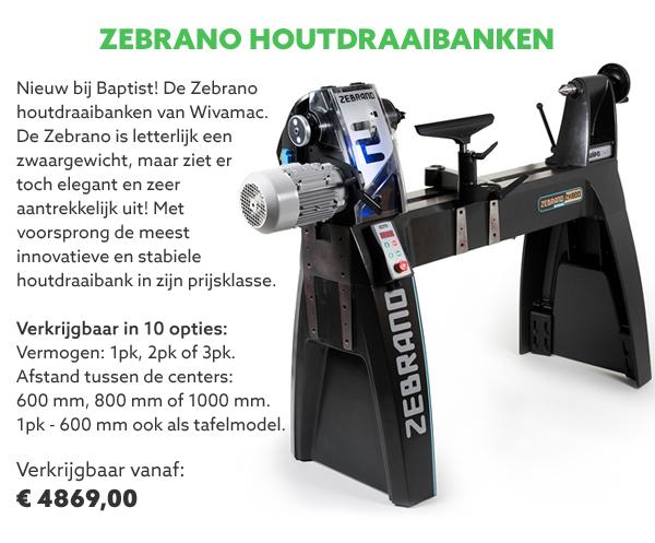 Zebrano houtdraaibanken