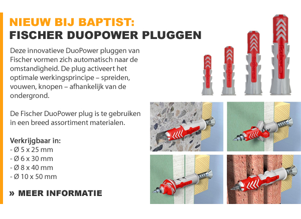 Fischer DuoPower pluggen
