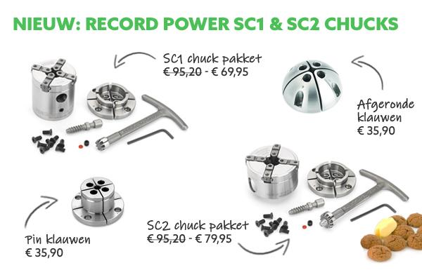 Record Power SC1 en SC2 chucks