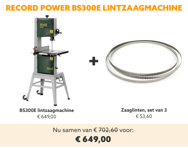Record BS300E lintzaagmachine