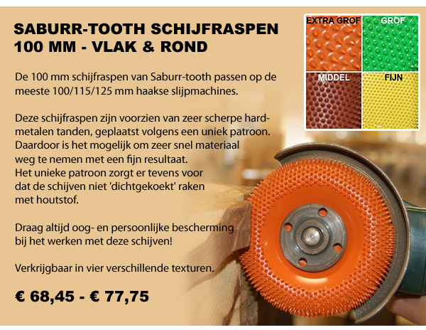 Saburr-tooth schijfraspen