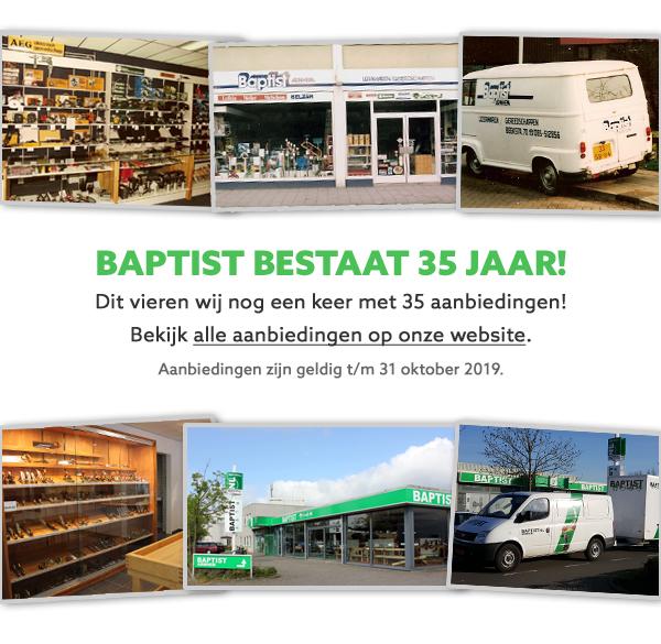 Baptist bestaat 35 jaar
