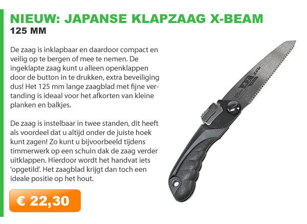 Japanse klapzaag x-beam 125mm