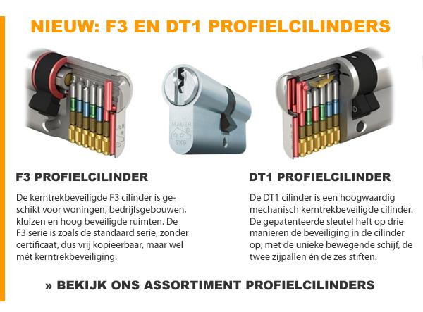 F3 en DT1 profielcilinders