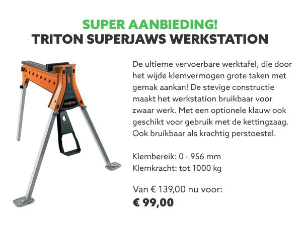 Triton Superjaws werkstation