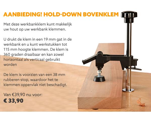 Hold-down bovenklem