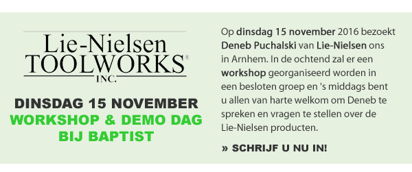 Lie Nielsen workshop en demo dag