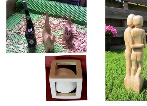 Werk van klanten houtsnijwerk Saïma van Dijk